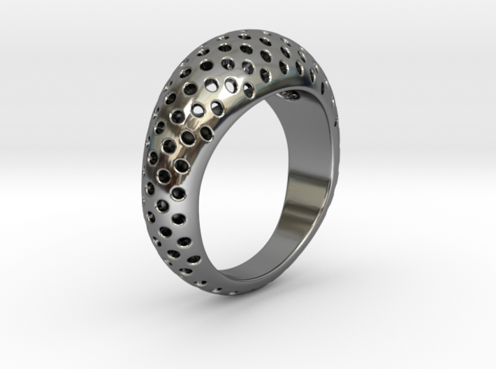 Round Pattern Ring   3d printed
