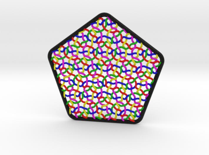Penrose Weave Pentagon 3d printed