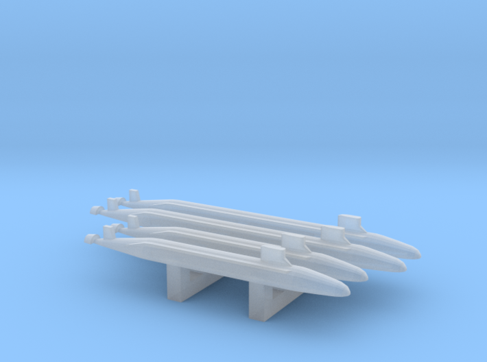The Seawolf class family Pack, 4pc, 1/6000 3d printed