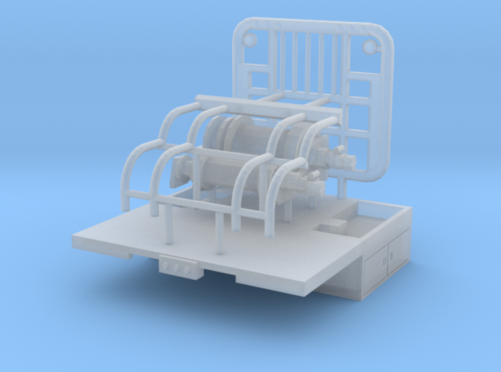 1/87th Winch Truck Short Bed, 8 foot wide 3d printed