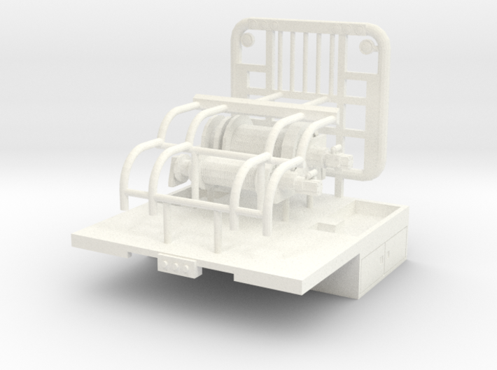 1/50 Winch Truck Short Bed, 8 foot wide 3d printed