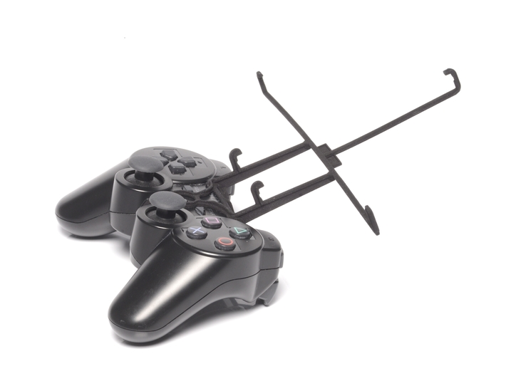PS3 controller & Amazon Fire HD 7 3d printed Without phone - A Nexus 7 and a black PS3 controller