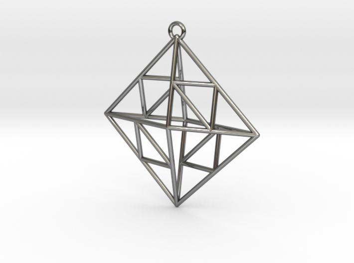 OCTAHEDRON Earring / Pendant Nº2 3d printed