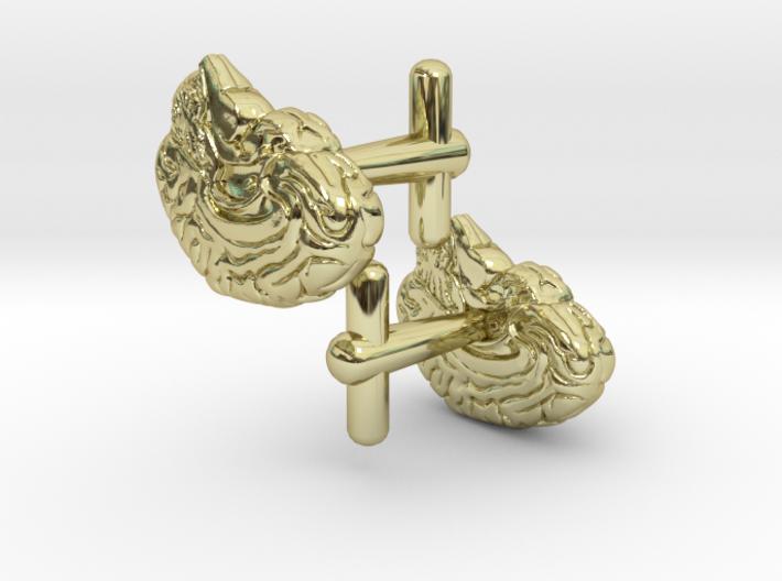 Anatomical Brain Cufflinks 3d printed