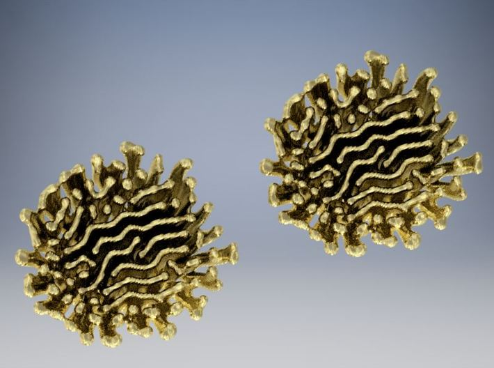Diffusion Earrings 3d printed
