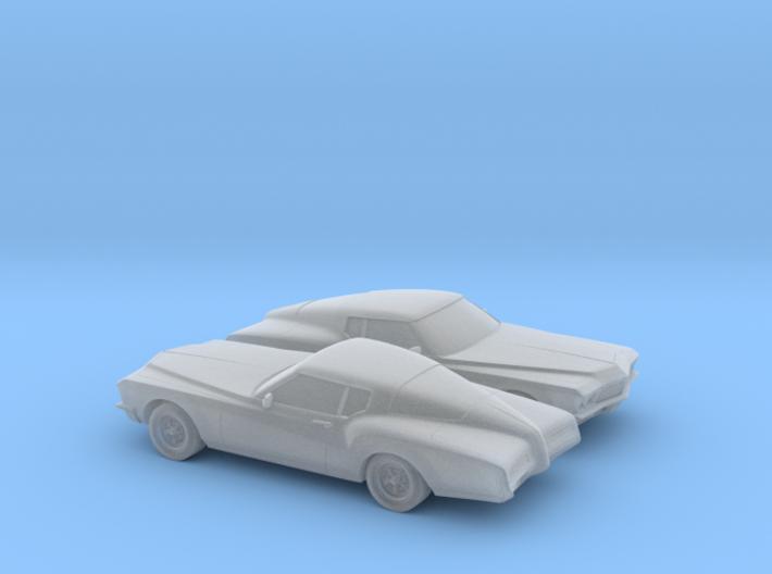1/160 2X 1971 Buick Riviera 3d printed