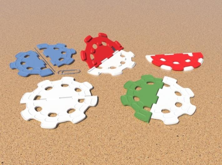 Twofold - Drink Coaster - Hinged 3d printed 3d printed hinge coaster