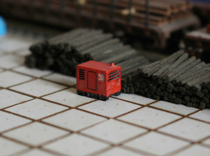 N Scale Mobile Diesel Generator 3d printed Diesel generator at worksite