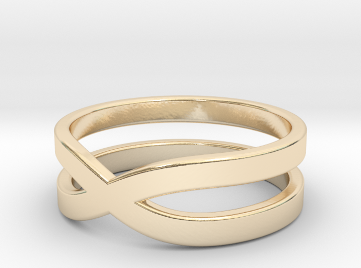 """Ring """"Across"""" Size 9 (18,9mm) 3d printed"""