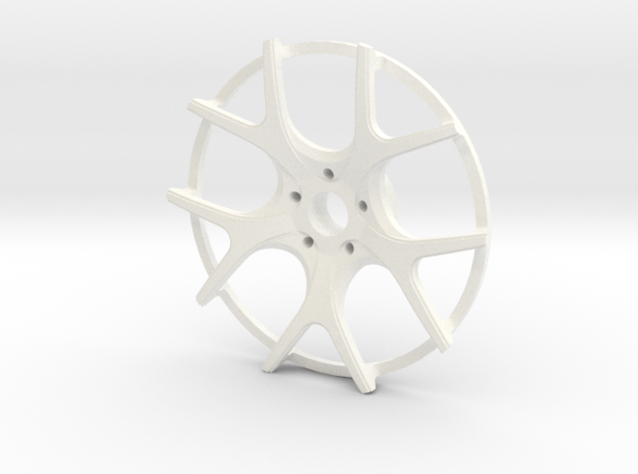Twin Five Spoke Wheel Face 3d printed