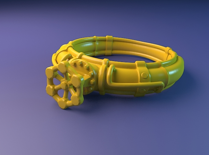 Pipe Ring with valve 3d printed