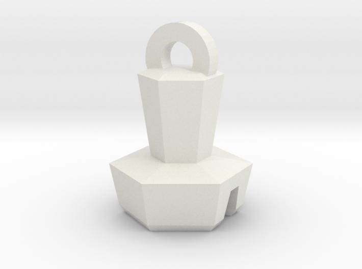 Platinum Bolt Keychain 3d printed