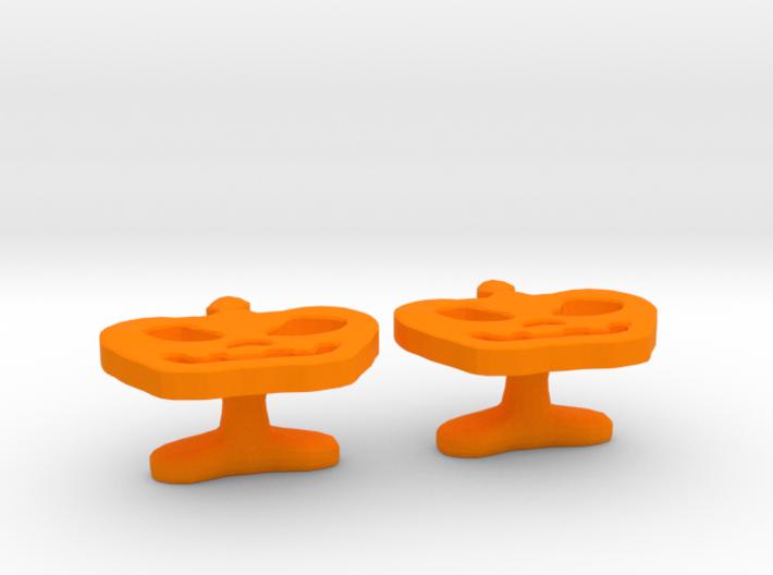Pumpkin Cufflink 3d printed