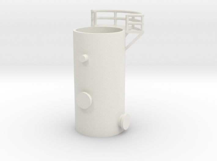 'N Scale' - 10' Distillation Tower - Bottom 3d printed