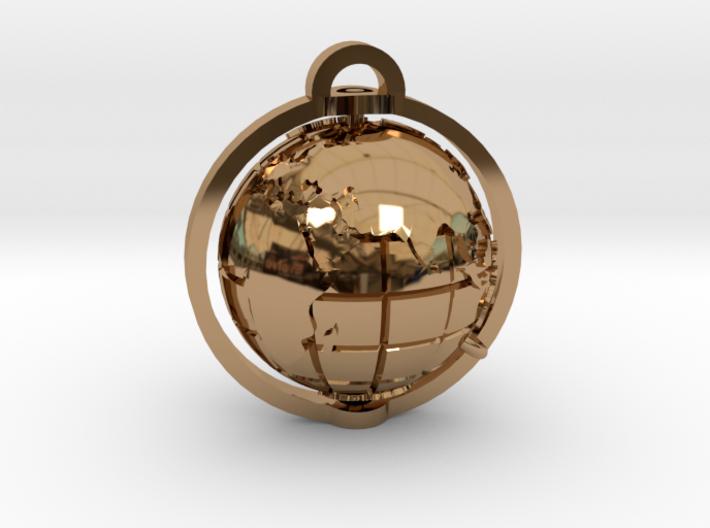 World Pendant 3d printed