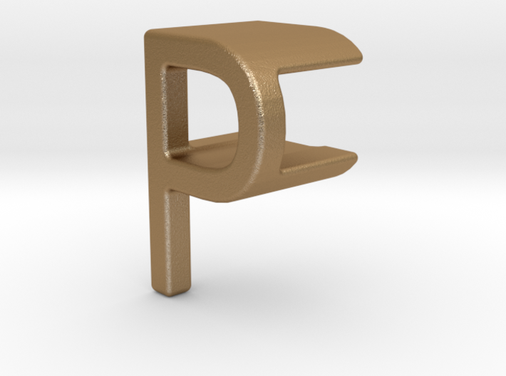 Two way letter pendant - FP PF 3d printed