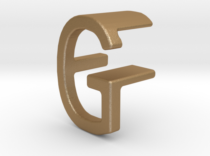 Two way letter pendant - FG GF 3d printed