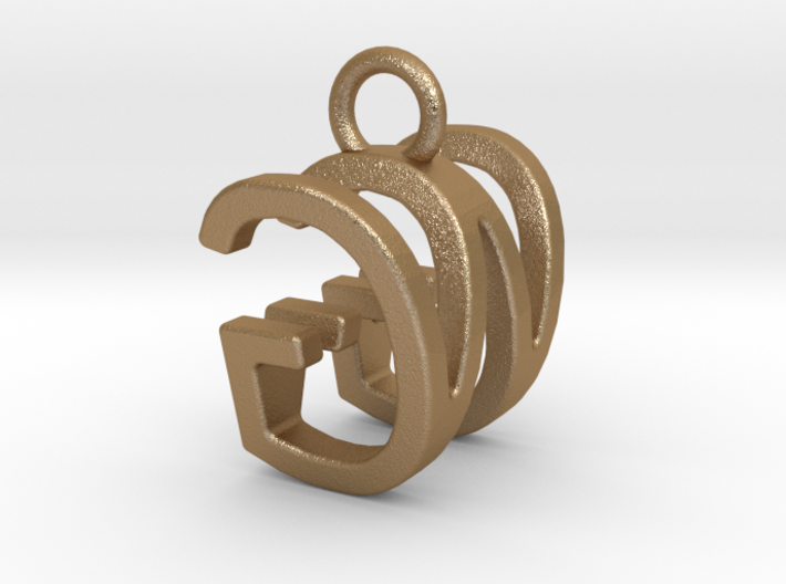 Two way letter pendant - GW WG 3d printed
