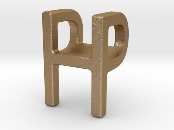 Two way letter pendant - HP PH 3d printed