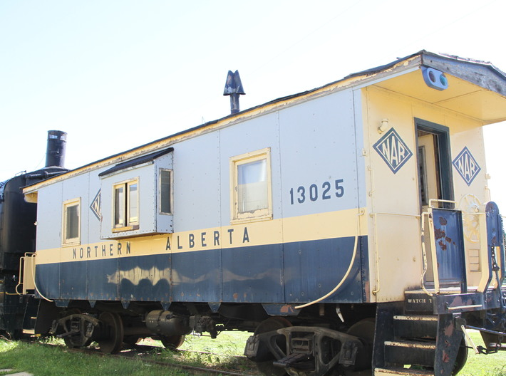 NAR 1952 CC&F Caboose HO Scale 3d printed 13025 at the Alberta Railway Museum- Rob Arsenault photo.