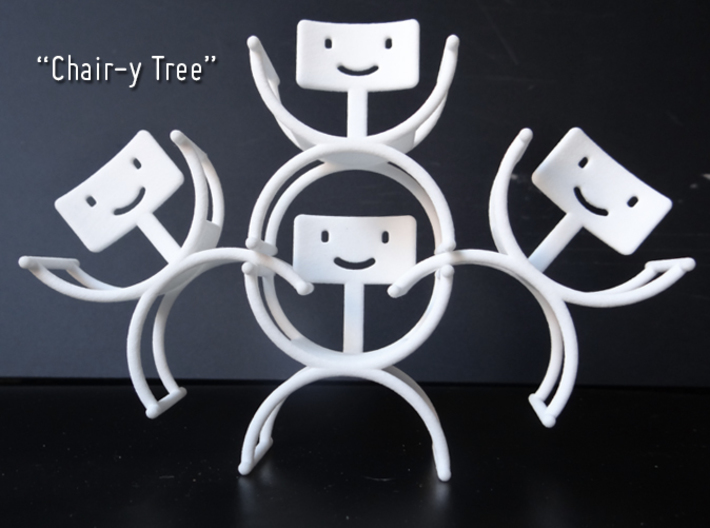 HappyBack Chair White 3d printed