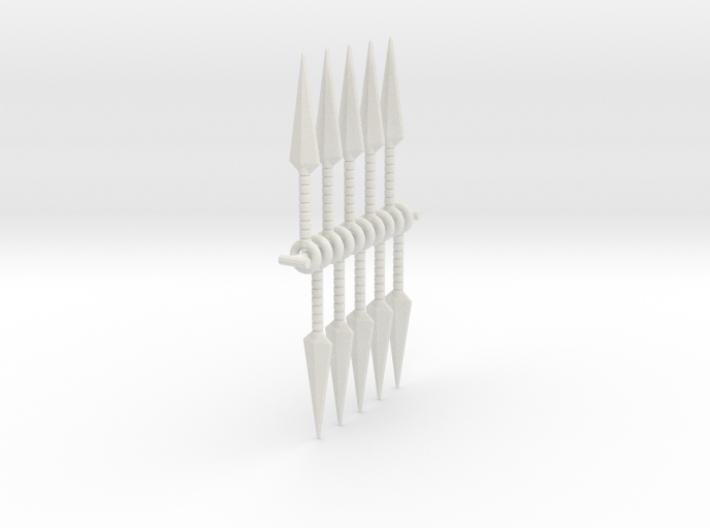 1:6 kunai x 10 SF 3d printed