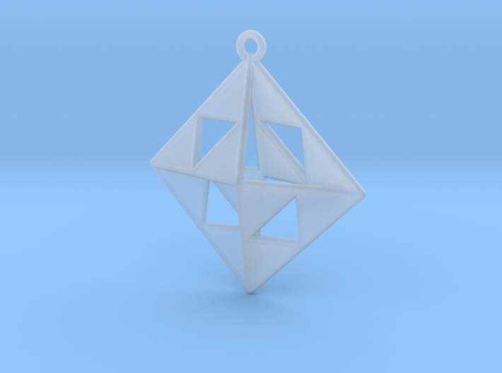 OCTAHEDRON Earring / Pendant Nº1 3d printed
