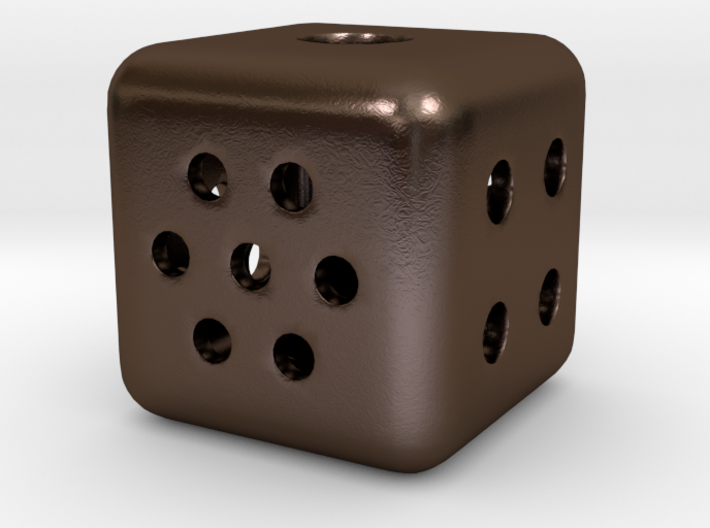 Roll your own d6: Hollow steel; any number of pips 3d printed