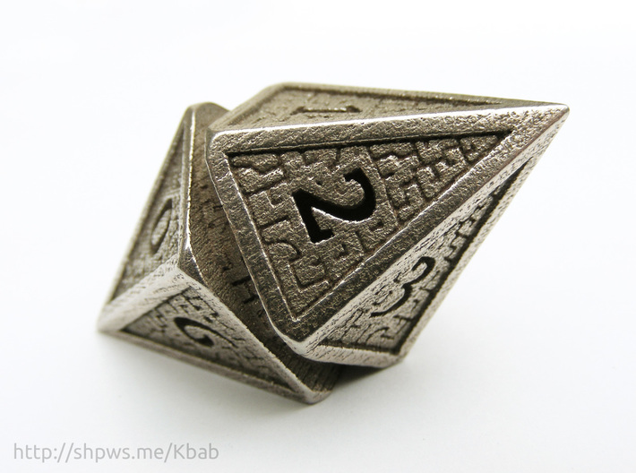 Hedron D10 Spindown Life Counter - HOLLOW DIE 3d printed Shaped like a hedron from Zendikar