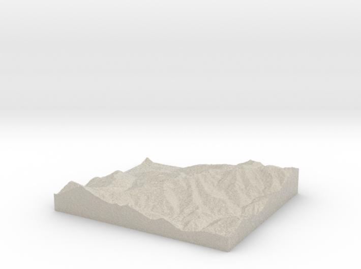 Model of Montecampione 3d printed