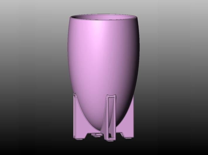 Egg Vase Porcelain Large 3d printed