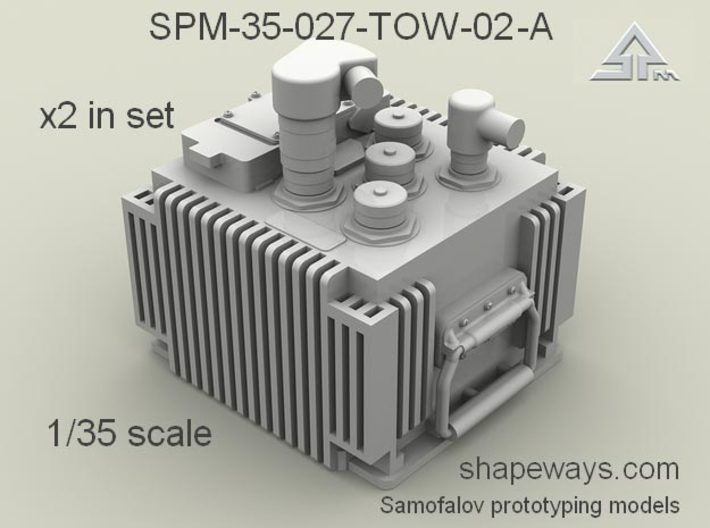 1/35 SPM-35-027-TOW-02-A x2 in set TOW FCS 3d printed