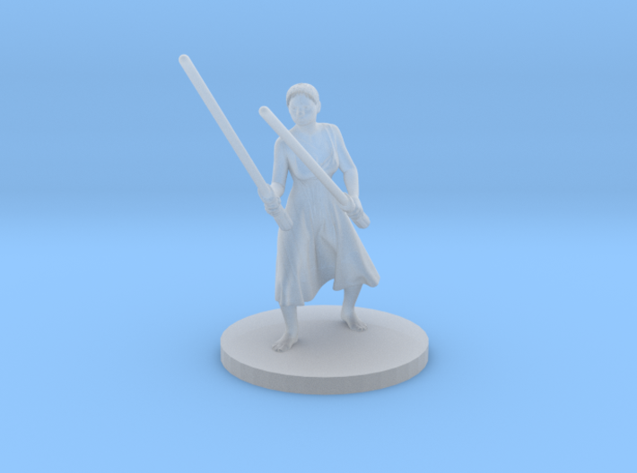 Irina with two lightsabers V2 3d printed