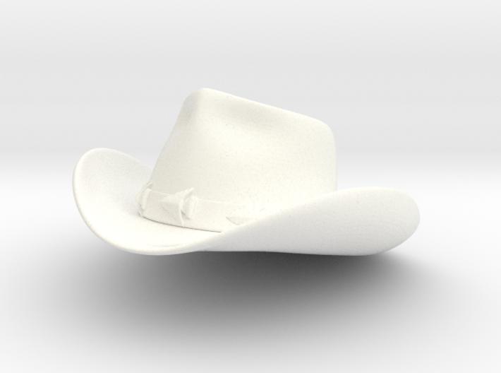 1:6 Scale Cheyenne Cowboy Hat 3d printed