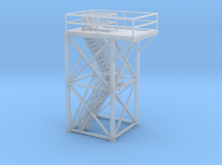 'S Scale' - 10' x 10' x 20' Tower Top With Stairs 3d printed