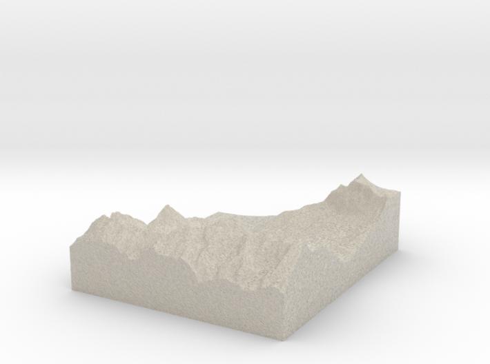 Model of Tajakopf 3d printed