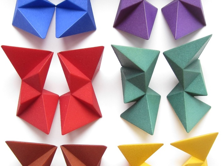 12 Different Piece Icosahedron 3d printed