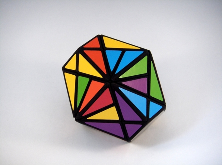 Fracture-12 Puzzle 3d printed Scrambled