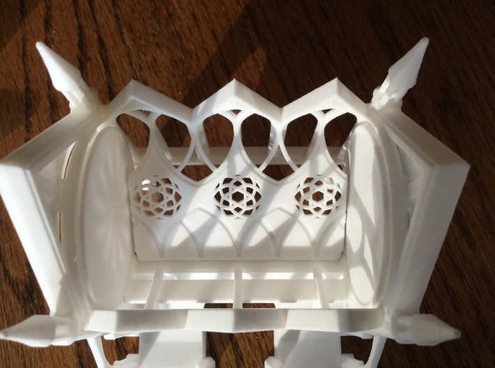 Gothic Cathedral Toothpick Dispenser 3d printed Interior view