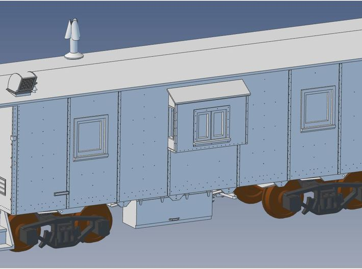 NAR Bay Window Caboose S Scale 3d printed
