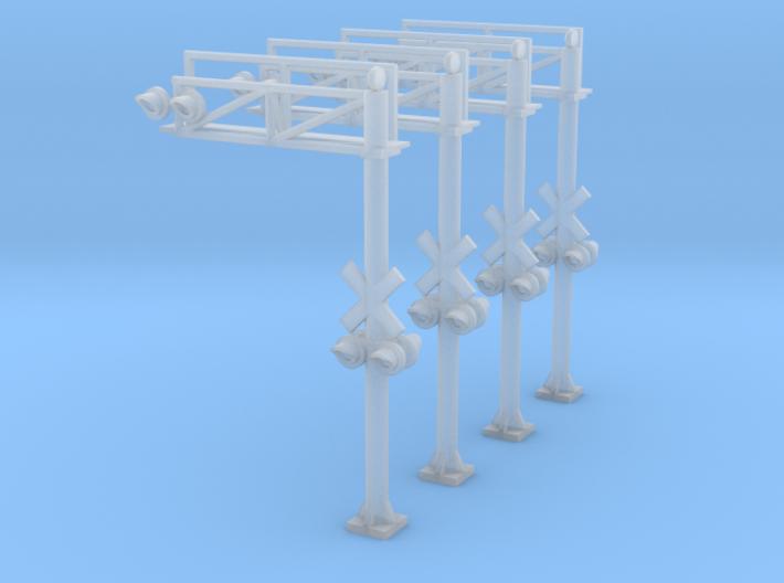 N Scale Crossing Gantry 1 Lane 4pc 3d printed