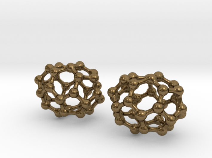 C32 buckyball earrings 3d printed