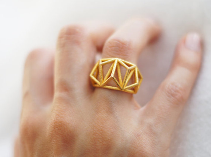 Cage Ring- size 7  3d printed