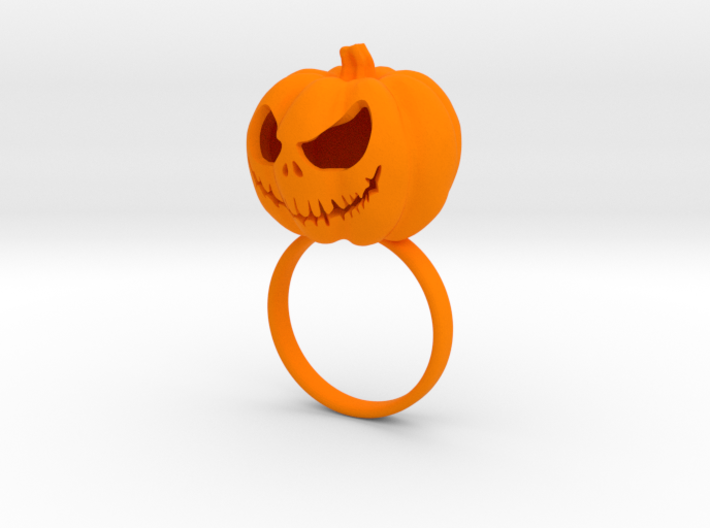 Pumpkin ring - Size 7 3d printed