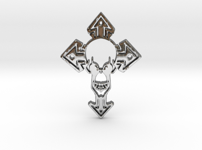 Skull1Pendant 3d printed