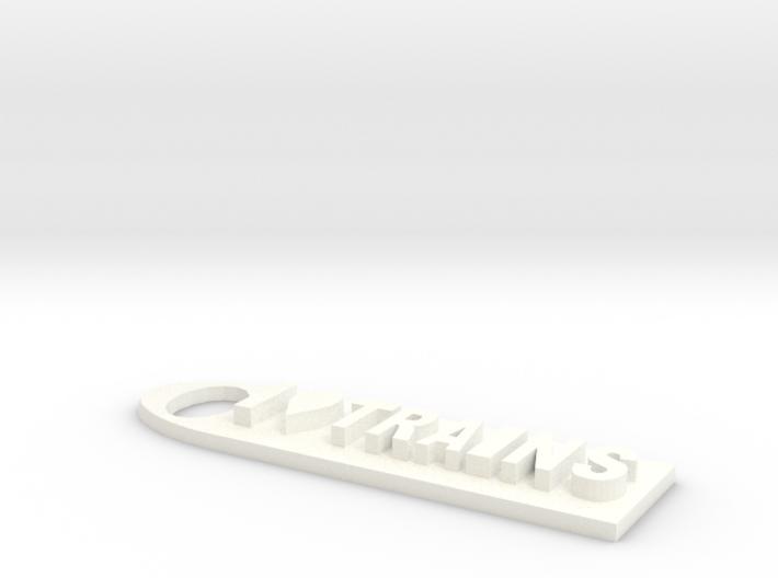 I Love Trains KeychainMK IV 3d printed