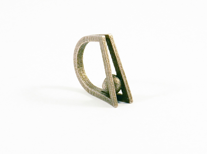 Peekaboo Ring 3d printed Steel