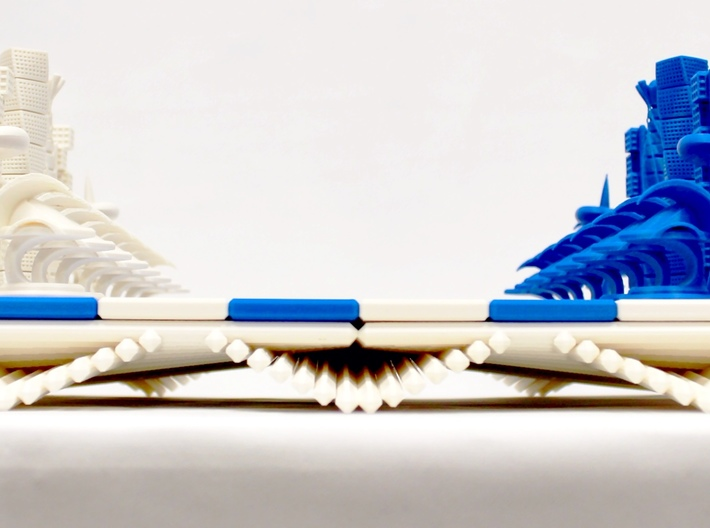 Chess Set Board Blue (PART 3) 3d printed 3D Printed Prototype