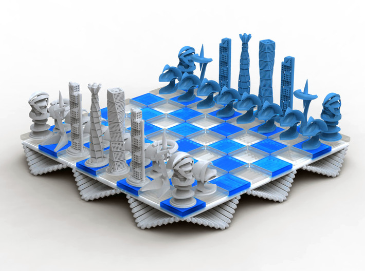 Chess Set Rook 3d printed Rendering