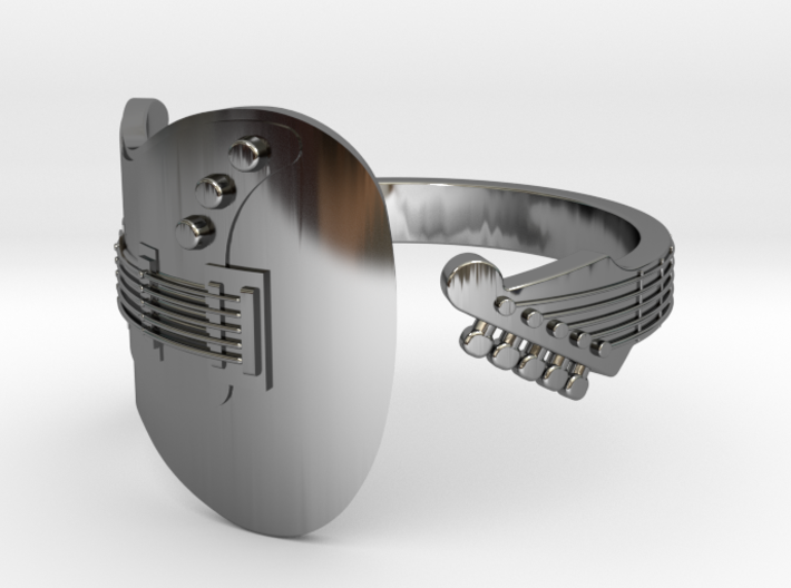 Full Electric Guitar Wrap Ring - US Size 11 3d printed